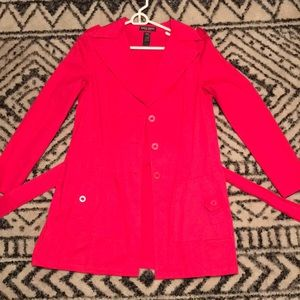 Pink Mid Length Trench Coat